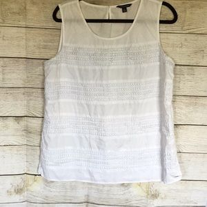 TOMMY HILFIGER SLEEVELESS WHITE TOP SIZE XL